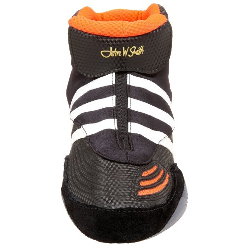 adidas Men's AdiSTRIKE John Smith Wrestling Shoe,Black.Infrared/White,14 M US