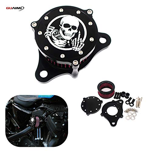 GUAIMI Air Cleaner Intake Filter System Kit For Sportster XL1200 Iron...