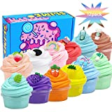 LAWOHO Butter Slime Kit, 12 Pack, DIY Stress Relief Toys Gift for Boys, Girls, Kids and Adults Super Soft No-Sticky and No-Toxic