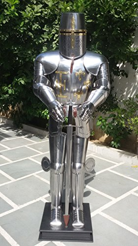 Medieval Knight Suit of Armor Medieval Combat Full Body Wearable- Armour with Stand