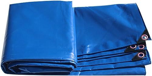 Bache HUO Durable, Tissu De Couverture De Cargaison De Camion, Tissu Imperméable Anti-UV Fort Imperméable Léger, Bleu, 450g M2 (Couleur   Bleu, taille   68m)