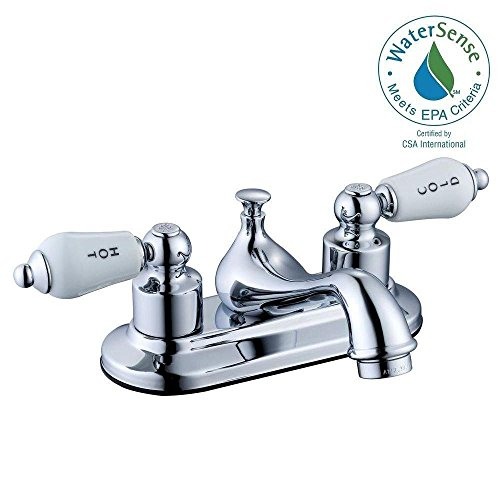 Glacier Bay Teapot 4 in. Centerset 2-Handle Low-Arc Bathroom Faucet in Chrome