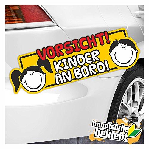 Kiwi Star Vorsicht. à bord autocollant enfant Multicolore Stickers fun Sticker Colored 20 x 5 cm