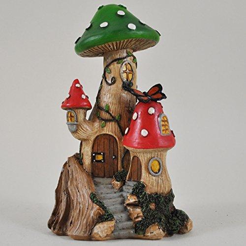 Fairy Garden UK Pilzbaum-Haus, Miniatur-Dekoration für den Garten, zauberhafte Feen-/Hobbit-Geschenkidee, 15 cm hoch