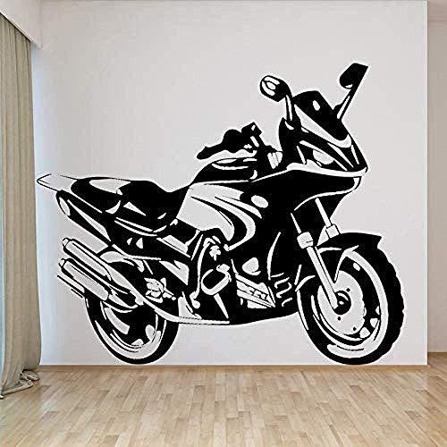 Pegatinas De Pared Cool Motocicleta Pvc Pegatinas De Pared Para Salón, Dormitorio, Accesorios De Decoración Del Hogar, Calcomanías De Pared Autoadhesivas Adesivo 58 * 69Cm