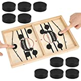 Fast Sling Puck Game, Tabletop Slingshot Games Toys for Boys and Girls, Desktop Sport Board Game for Family Game Night Fun, Portable Table Hockey Game for Kids and Adults