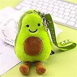 KAYYA 2 Pcs Avocado Keychains Cute Avocado Plush Toy Suitable for Backpacks, iPad Pendants, Car Decorations, Gifts
