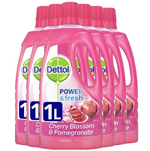 Limpiador líquido multiuso de cerezo y granada (6 unidades de 1 l) Power and Fresh, de Dettol