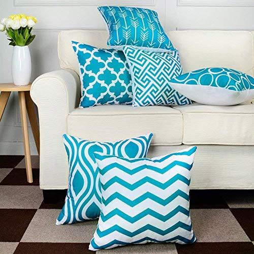 LEEDY 6PC/Set Fashion Throw Pillow Covers, Cushion Case Home Decor for...