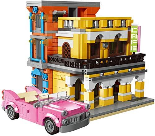 JIALI Mojito Cafe City Street View Bloques de construcción Modelo Moc DIY Juguetes, Compatible con Lego - 650 PCS
