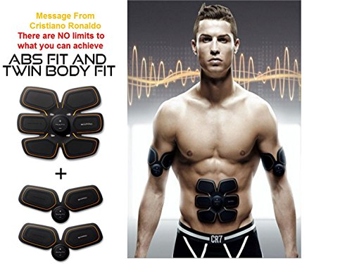SIXPAD MTG Body Fit2 Sixpad ABS and Twin BODY Fit Trainer Gare Training abs and arms Fit Get You Ripped Electric Muscles get 3 Gel Sheet For Free By (JAPAN Version Full pack)