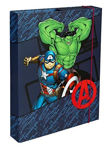 Undercover AVER0940 Heftbox A4 mit Spanngummi, Marvels The Avengers, ca. 32 x 24 x 4 cm