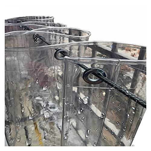LIANGLIANG Lona Clara, Transparente Impermeable Cubierta de Lona con Ojales, PVC Material de Vidrio Blando, Grandioso para Cortina Exterior Cubierta Vegetal Balcón Patio (Size : 1.2x3m)