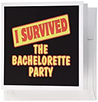 Dooni Designs Survive Sayings – I Survived the Bachelorette Party Survival Pride andユーモアデザイン – グリーティングカード Set of 6 Greeting Cards