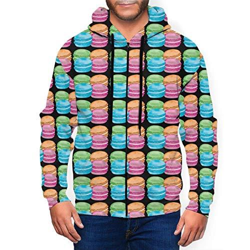 N \ A Madeleines and Macarons Herren Kapuzenpullover Full-Zip Pullover Sweatshirts mit Tasche Jacke M