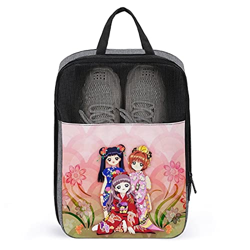 Bolsa para zapatos de viaje, portátil, impermeable, con cremallera, apta para viajes, entrenamiento, fuerte y duradero