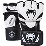 Venum Attack MMA Gloves, Black/White, Small