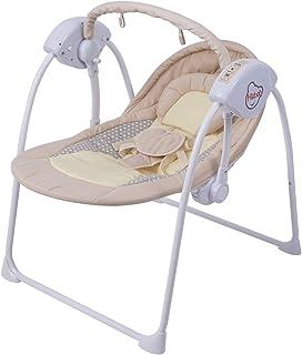 電動ハイローチェア 赤ちゃん揺り椅子 音楽機能 おもちゃ付き 折りたためる 収納便利 新生児~20kgまで対象 ポータブル 食事イス用 寝かしつけ用 お遊び用