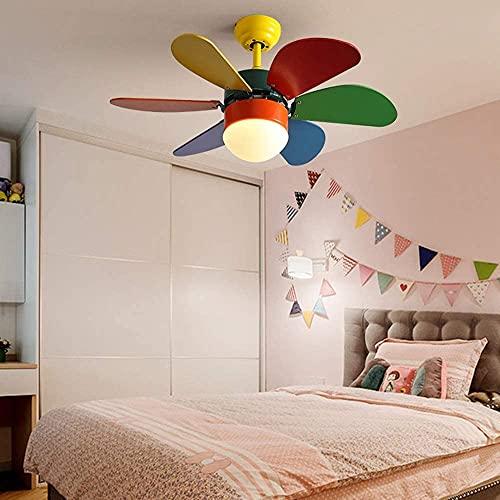 KEYREN Araña del Ventilador de Techo con Control Remoto 15W Habitación LED Accesorios, araña Regulable, lámpara Colgante de Control Remoto para iluminación de Techo.