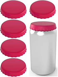 Silicone Soda Can Lids – Can Covers – Can Caps – Can Topper – Can Saver – Can Stopper – Shield your coke, beer, and pop cans from flies, bees, and dust! – Fits standard soda cans (6 Pack, Pink)