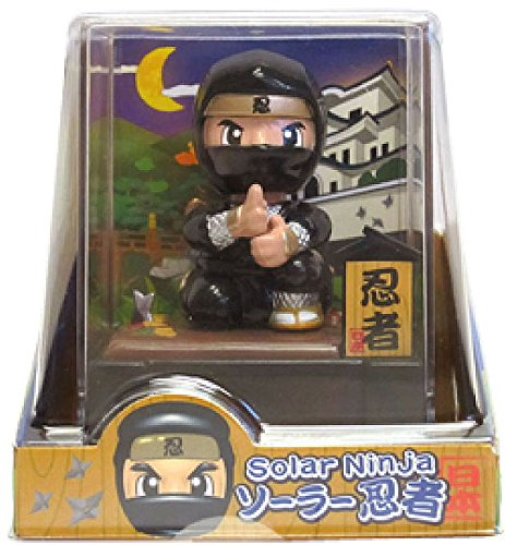 NINJA - Figurine Solaire Noire!!/POUPEE.
