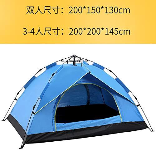 OJY Outdoor Camping Zelt: 2-3-4 Personen vollautomatisch, schnell öffnend, regenfest und sonnensicher Campingzelt doppelt blau
