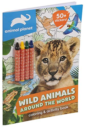 Animal Planet: Wild Animals Around the World Coloring and Activity Book (Coloring Book with Crayons)