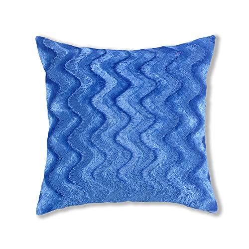 Fundas de almohada de felpa de estilo simple, cuadradas, súper suaves, fundas de cojín para el hogar, decoración creativa del hogar, para sofá, cama, silla (43 x 43 cm)