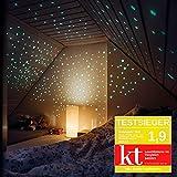 400 Leuchtsterne selbstklebend in drei Größen – Sternenhimmel für Spaß und einen sorglosen Schlaf – Hell Leuchtende Sterne für Kinderzimmer mit starkem Halt - Leuchtsterne Kinderzimmer