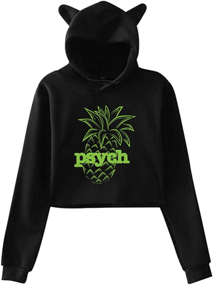 XUEF-6 Womens I Love Psych Pineapple Pullover Hoodie Sweatshirt Pullovers Tops Blouse