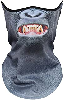 JIUSY 3D Animal Neck Gaiter Warmer Windproof Face Mask for Ski Halloween Party