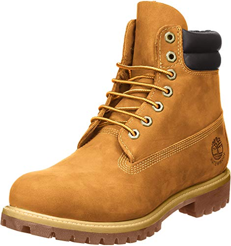 "Timberland 6"" Double-Collar Waterproof Boot Wheat 10.5 EE - Wide"