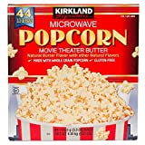 Kirkland Signature Microwave Popcorn, 3.3 oz, 44 Count (Family Bundle)