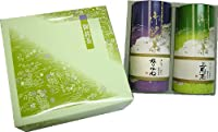 宇治茶詰め合わせ(ドーム紙缶2本入り) 上級煎茶・かりがね 100g