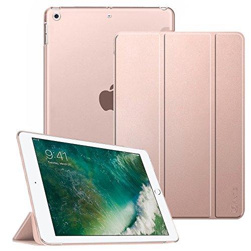 FINTIE Coque pour iPad 9.7 2018/2017 - SlimShell Cover Etui Housse avec Support Ultra-Mince et léger avec Semi-Transparent Protecteur pour Nouvel iPad 9,7 Pouces 2018/2017, Or Rose