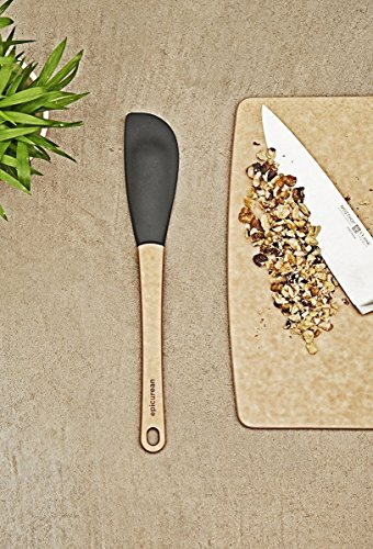 Epicurean Silicone Series Utensils, 3-piece Spatula Set, Natural with Black