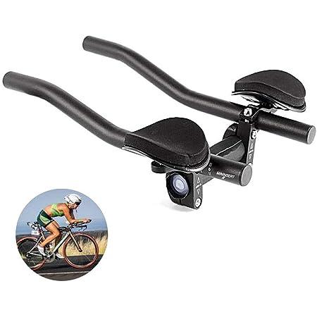 Bike Bicycle Alloy Triathlon Hand Arm Rest Handlebar Clip Tri Bars Road MTB