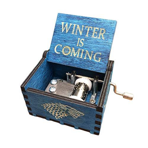 belupai - Carillon Vintage con 18 Note incise a Mano, in Legno Anticato Intagliato a Mano, Idea Regalo per Compleanno/Natale/San Valentino Game of Thrones-Blue