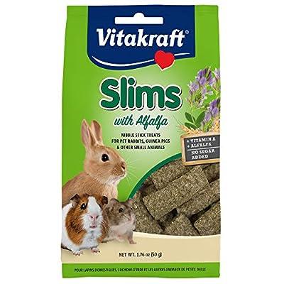 Vitakraft Slims with Alfalfa Rabbit, Guinea Pig & Small Animal Nibble Stick Treat, 1.76 oz from Vitakraft