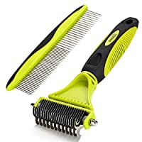 ★DURABLE HIGH-QUALITY MATERIAL - Made of high-quality TPR material; stainless steel blades will not rust; ergonomic non-slip comfortable handle prevents grooming fatigue; sturdy and durable construction will last for a long time. ★MINIMIZE PETS SKIN ...