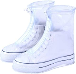 Waterproof Shoes Cover Boots Overshoes for Rain Snow with Non-Slip Rubber Soles for Men & Women