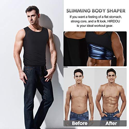 Hirdou Sweat Sauna Vest Weight Loss Tummy Control Body Shaper