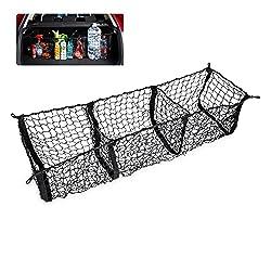 cheap Zento offers a black mesh organizer storage net with 3 pockets