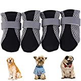 YUESEN Protective Dog Boots Mesh Breathable Pet Shoes with Wear-resistant and Rugged Anti-Slip