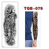 Etiqueta engomada del tatuaje Impermeable Duradero Brazo completo Color Taro Negro Ángel Cuerpo Brazo Pierna Hombres y mujeres Arte Etiqueta 10 piezas A
