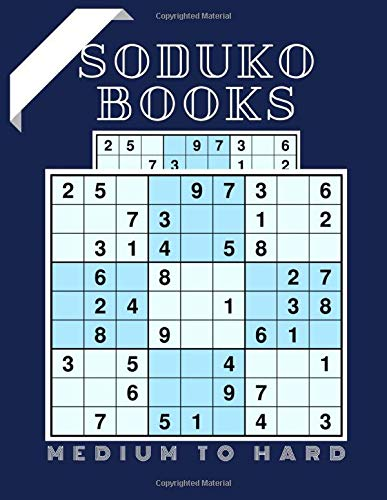 Soduko Books Medium To Hard: Mini Soduko Books For Adults, Teaser Daily Calendar 2020 Page A Day, Brain Games Lower Your Brain Age Sudoku, Orignal Sudoku Books For Adults