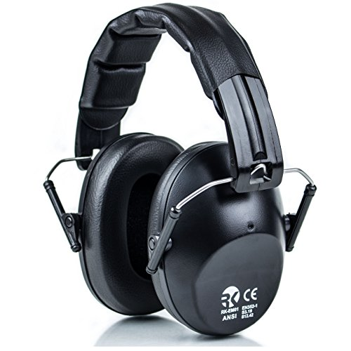 RK Safety Shooting Hearing Protection Ear Muff Defender Folding-Padded...