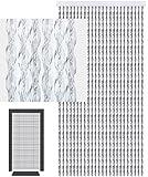 defacto®Türvorhang Fadenvorhang 90x200 cm CHRISTALL PVC Vorhange PVC Streifen Glitzer Glanz 100% Made in Italia