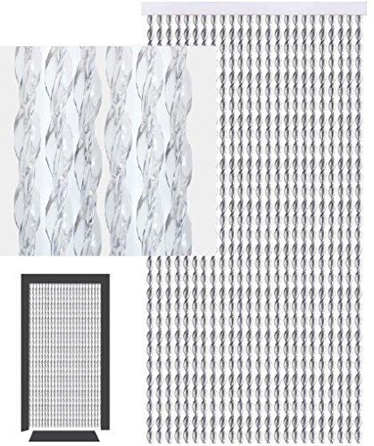 defacto Türvorhang Fadenvorhang 100x200cm PVC Vorhange Fliegenschutz 100% Made in Italia PVC Streifen CHRISTALL Glitzer Glanz