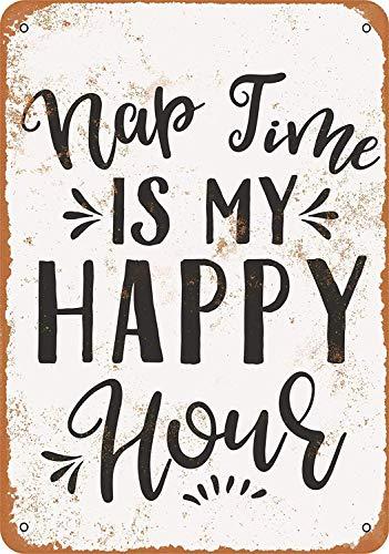 MNUT Metallschild Naptime is My Happy Hour 20 x 30 cm